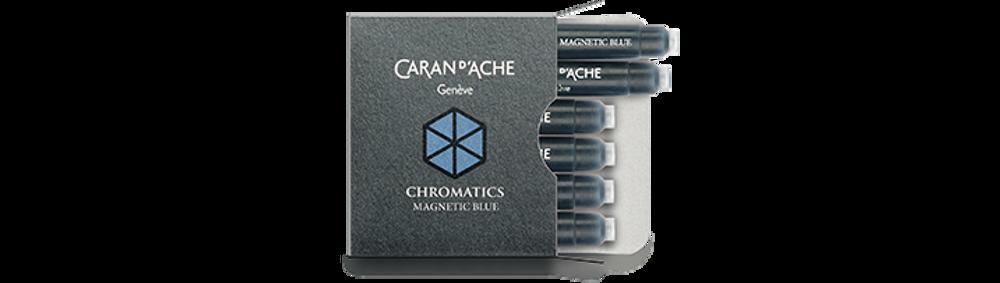 Caran d'Ache Magnetic Blue Ink Cartridges