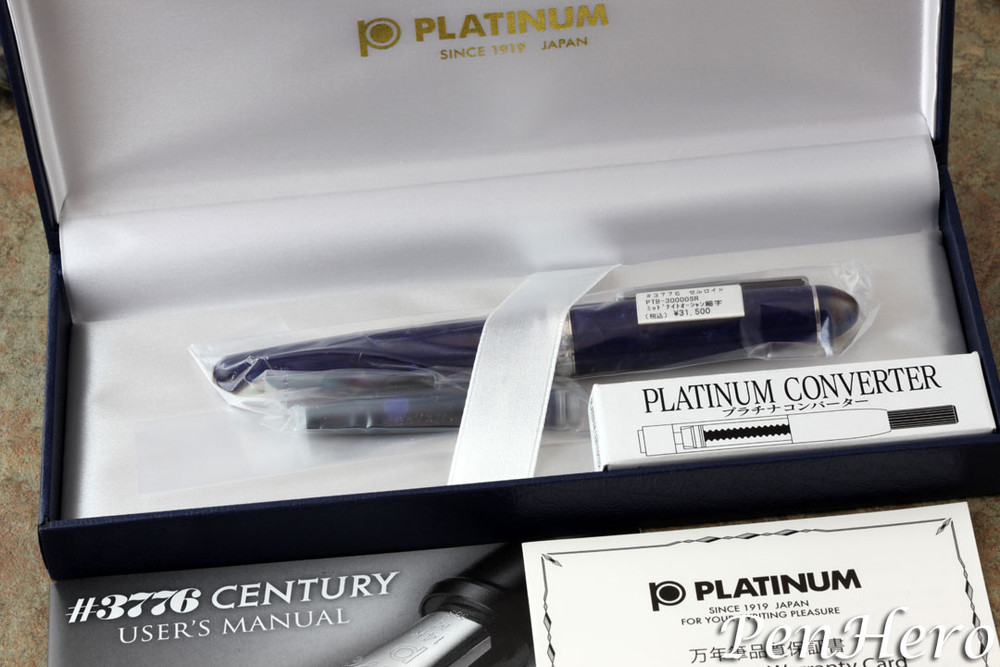 Platinum #3776 Celluloid Midnight Ocean Fountain Pen