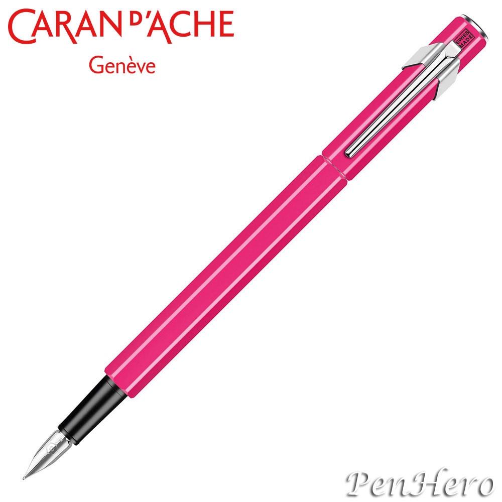 Caran d'Ache 849 Flourescent Pink Fountain Pen
