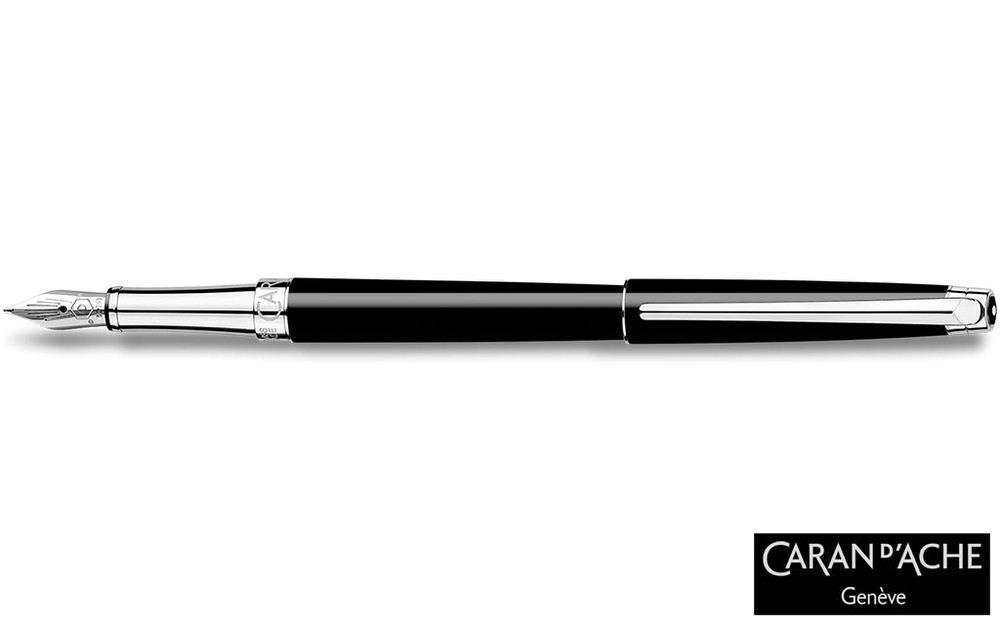 Caran d'Ache Leman Slim Black Ebony Fountain Pen