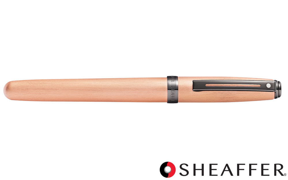 Sheaffer Prelude Brushed Copper Tone PVD Gunmetal Trim Fountain Pen