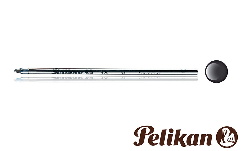 Pelikan 38 Mini Ballpoint Refill Pack of Five Black Medium Point