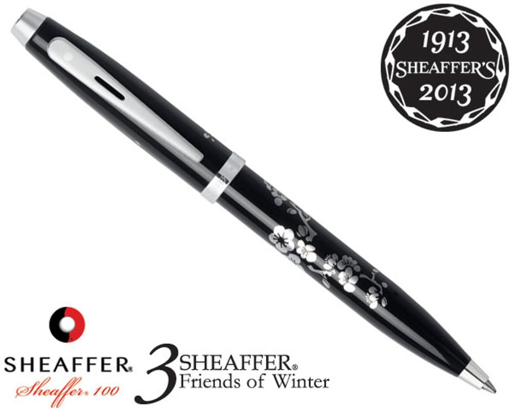 Sheaffer 100 3 Friends of Winter, Plum Design Ballpoint Pen