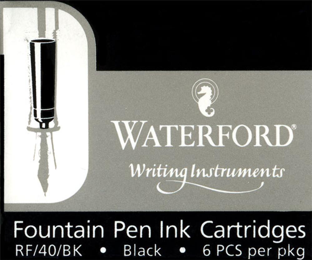 Waterford Black Fountain Pen Ink Cartridges