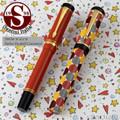 Santini Italia Pois Rust Yellow Brown Polka Dots Rollerball Pen