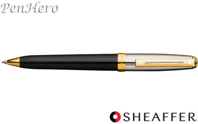 Sheaffer Prelude Black Onyx Lacquer / Palladium Plate Cap G/T Ballpoint Pen