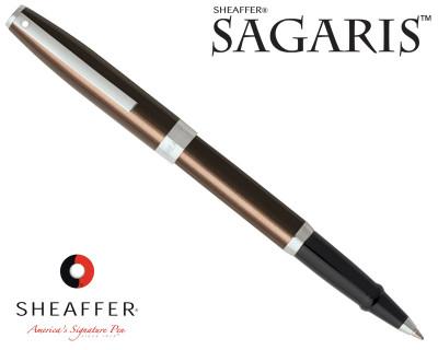 Sheaffer Sagaris Metallic Brown with Silver Trim Rollerball Pen