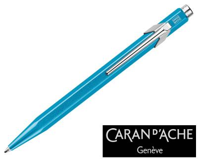 Caran d'Ache 849 Metal X Turquoise Ballpoint Pen