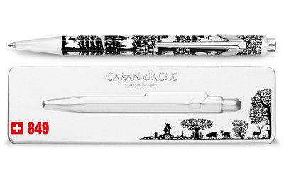 Caran d'Ache 849 TOTALLY SWISS PAPERCUT ballpoint pen