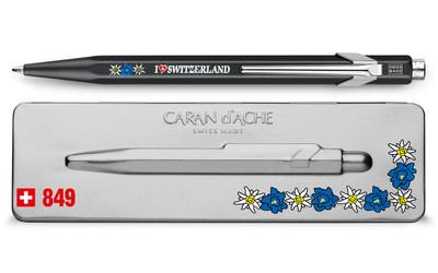 Caran d'Ache 849 TOTALLY SWISS EDELWEISS ballpoint pen