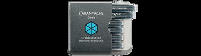 Caran d'Ache Hypnotic Turquoise Ink Cartridges