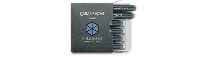 Caran d'Ache Magnetic Blue Ink Cartridges