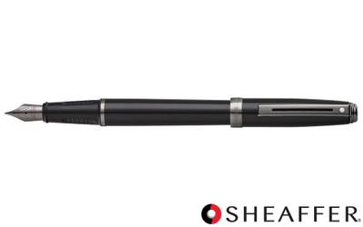 Sheaffer Prelude Black Lacquer Gunmetal Trim Fountain Pen