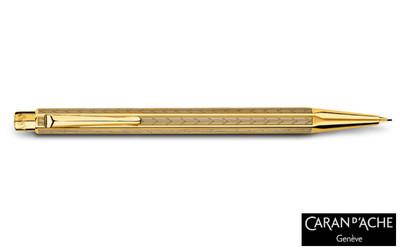 Caran d'Ache Gold-plated Ecridor Chevron Mechanical Pencil