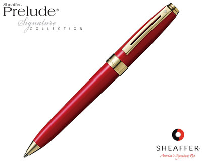 Sheaffer Prelude Signature Red Laque G/T Ballpoint Pen