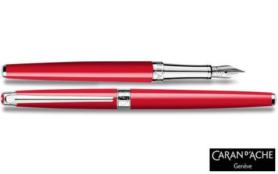 Caran d'Ache Leman Slim Scarlet Red Fountain Pen
