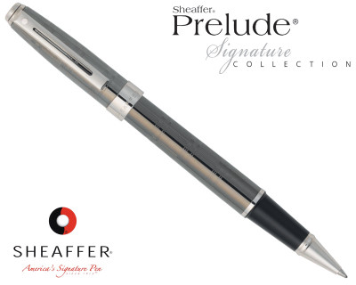 Sheaffer Prelude Signature Gunmetal Ceramic with Engraving Rollerball Pen