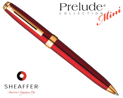 Sheaffer Prelude Mini Translucent Red G/T Ballpoint Pen