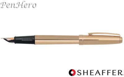 Sheaffer Prelude Fluted 22 Karat Gold Plate Fountain Pen Fine