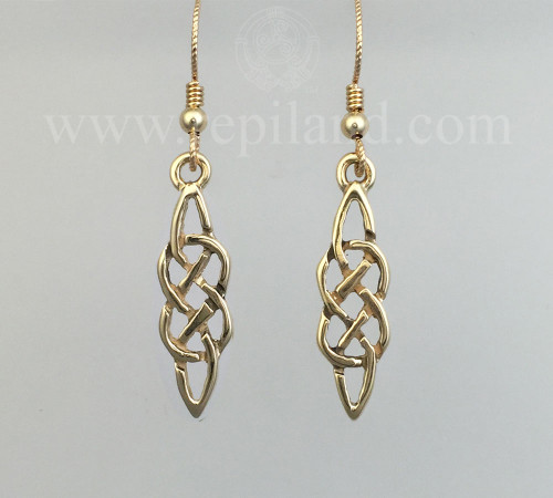 Neamhain Earrings, classic drop knotwork.