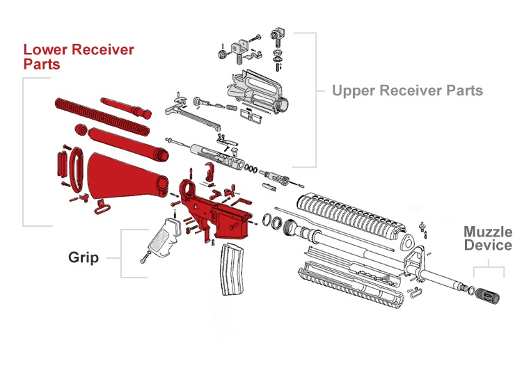 parts of an ar-15 | ar15 parts | wing tactical ar  15 lower diagram ar 15 stock carbine parts diagram #14