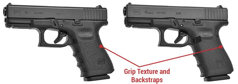 Grip Texture and Backstraps