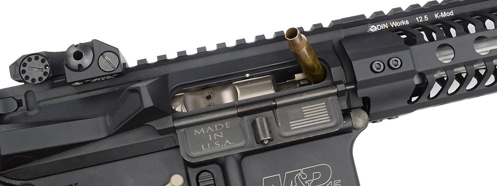 AR-15 with jammed cartridge
