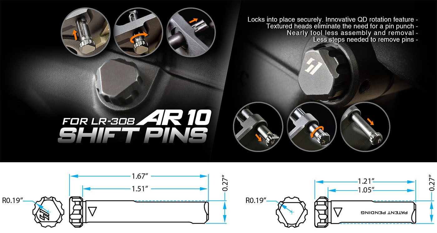 Strike Industries AR-10 Shift Pins