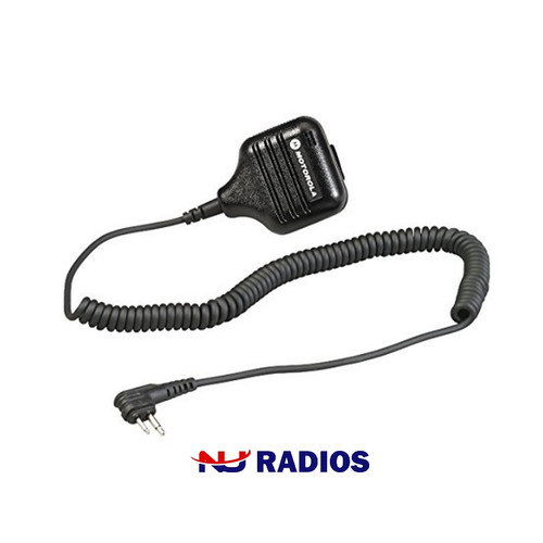 six pack of the popular motorola hkln4606 remote speaker microphone for business radios has a 2