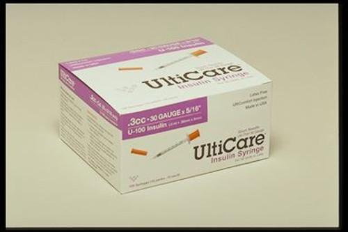 30g 3/10 cc -1/2 inch needle Syringe for U-100 - Box of 100