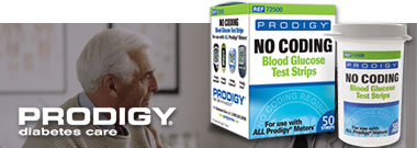 Prodigy No Code Glucose Test Strips