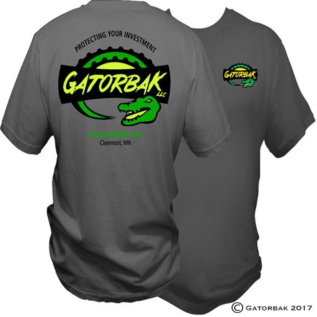 Gray Gatorbak branded t-shirt. Comfortable and affordable.