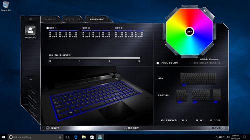 Eluktronics P650 Full Color Customizable Backlit Keyboard