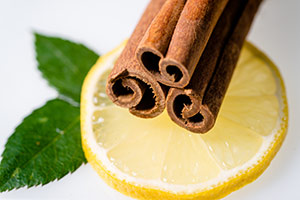 Lemon and Cinnamon Stick