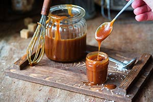 Caramel Dripping Off Spoon