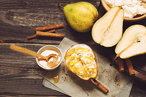 Baked Pear and Cinnamon