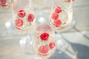 Raspberry Champagne Flute