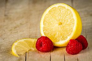 Lemon and Raspberries