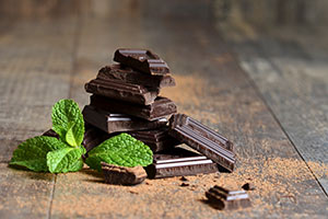 Chocolate and Mint leaf