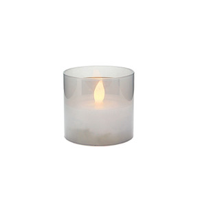 Candle LED in Glass Cup 8x7.5cmH (12/48)