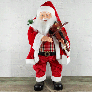 SKU097 80CM SANTA WITH VIOLIN (WITH MOVING AND MUSIC) AA * 3PCS BATTERY (NO INCLUDE)