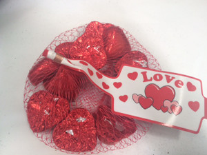 Red Chocolate Hearts 77g