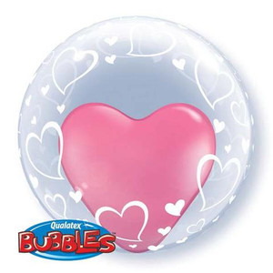 "24"" Deco Bubble (Stylish Hearts)"