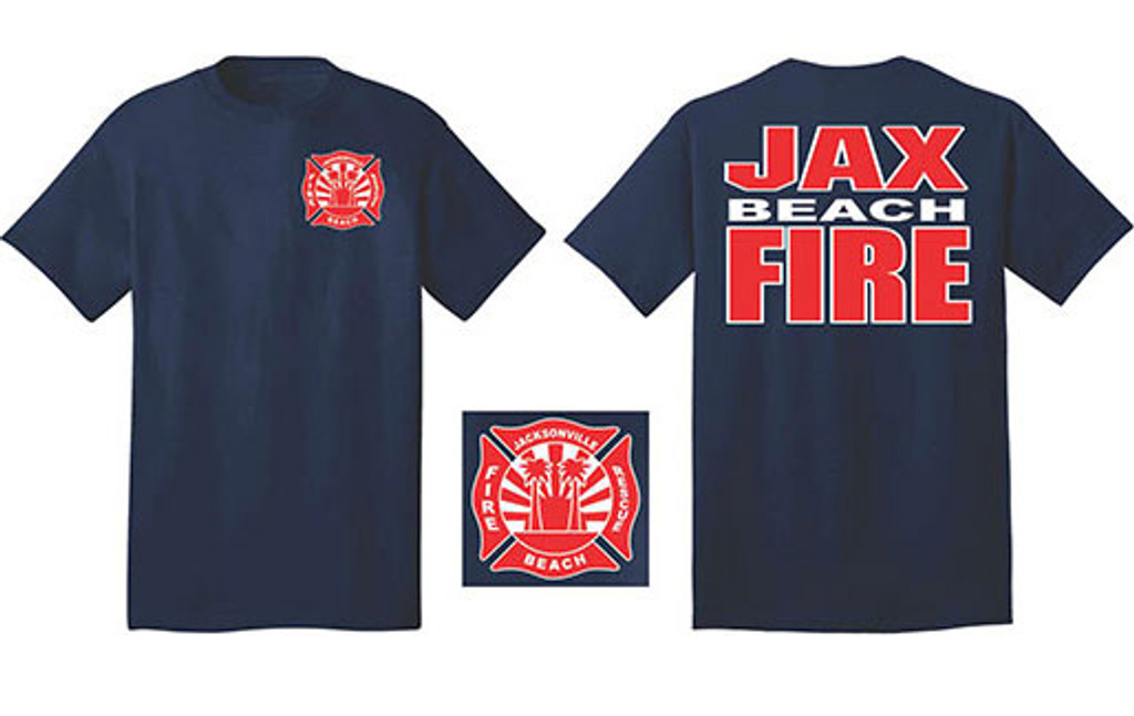Jacksonville Beach Fire Department Duty T-Shirt (Navy)