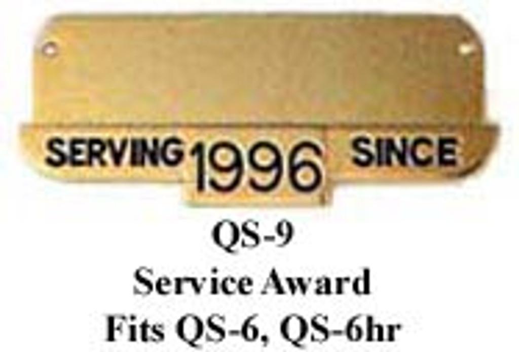 Hookfast Service Award Plate QS-9