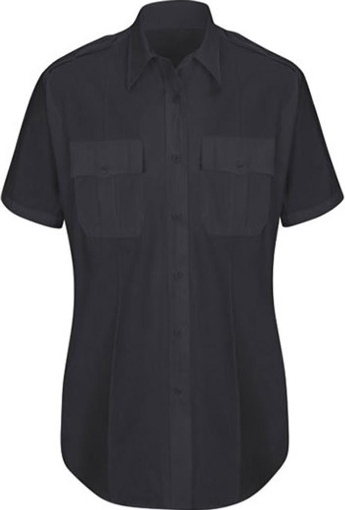 Horace Small New Dimension® Plus Short Sleeve Poplin Shirt - Women's