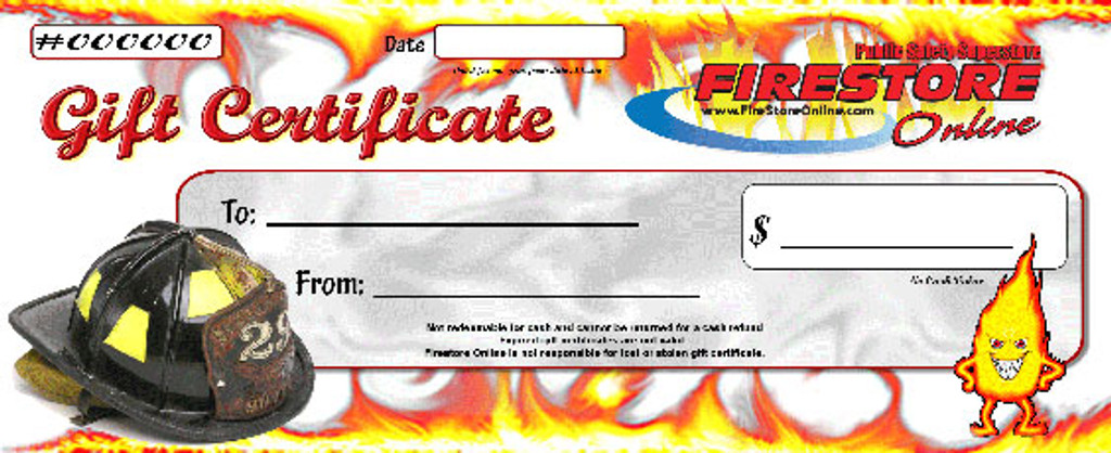 Fire Store Online eGIFT CERTIFICATE