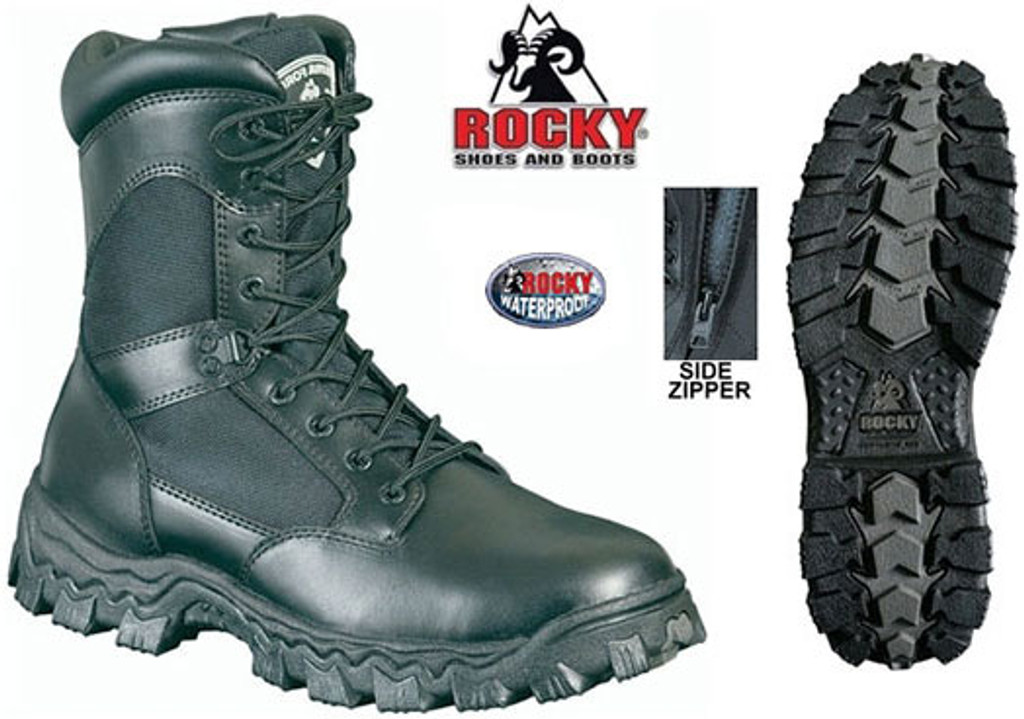 Rocky AlphaForce Side Zip WATERPROOF Duty Boot (SAFETY TOE)