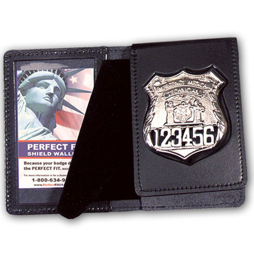 Perfect Fit Leather Flip-Out Badge Case w/ID Window (Custom Cutout)
