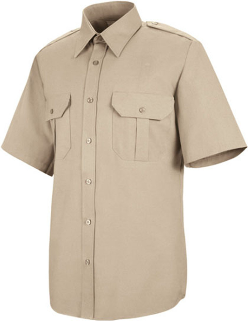 Red Cap Basic Security Short Sleeve Shirt-FireStoreOnline